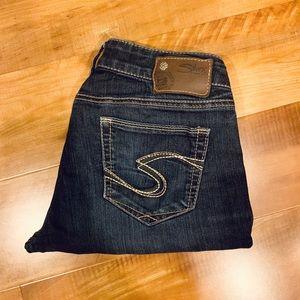 Silver skinny jeans - size 29